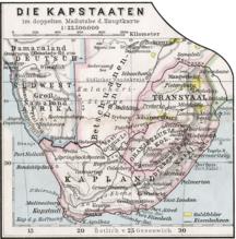 ボツワナ-歴史-Kapstaaten 1905