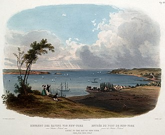 The Narrows - View of the Narrows, 1832, by Karl Bodmer