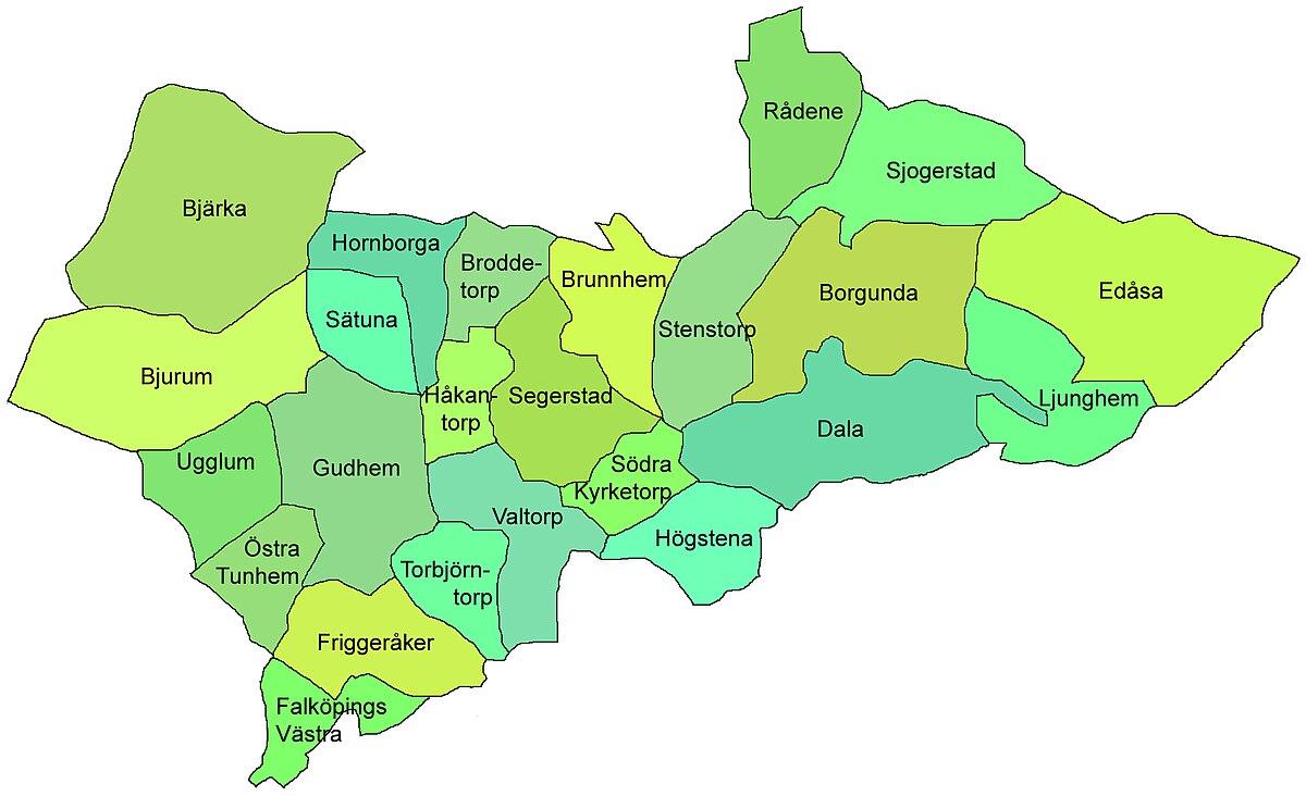 karta över skövde kommun