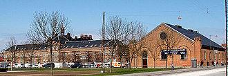 Vester Allés Kaserne - The riding hall and officers building of Vester Allé Kaserne