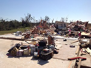 Wynnewood, Oklahoma - EF4 damage to a well-built house east of Katie, Oklahoma
