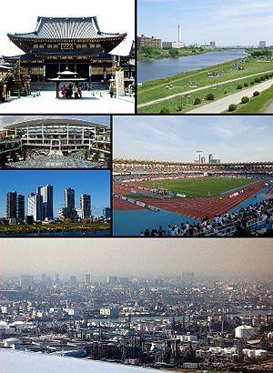 Kawasaki, Kanagawa - Kawasaki Daishi, Tama River Lazona Kawasaki Plaza, Musashi-Kosugi area Todoroki Athletics Stadium Keihin industrial area
