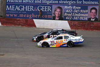 Ken Schrader - Schrader racing in his Ken Schrader Racing ARCA car at Elko Speedway in 2013