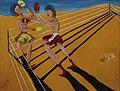 Khaled Hafez- Desert Fight, acrylic on paper, 30x40cm, 1983.jpg
