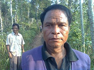 Khasi people - Khasi men near Moulvibazar, Bangladesh