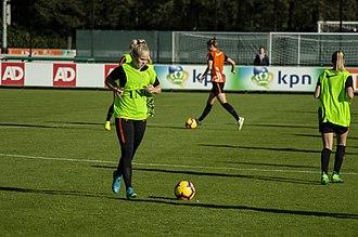 Kika van Es - van Es training with the Netherlands on November 6, 2018