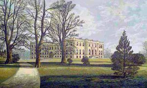 Kimbolton Castle - Kimbolton Castle in 1880. This illustration shows the present mansion as rebuilt between 1690 and 1720.