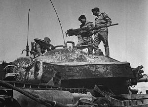 Mashour Haditha Al-Jazy - Mashour Haditha Al-Jazy and King Hussein atop an abandoned Israeli tank in the aftermath of the Battle of Karameh.