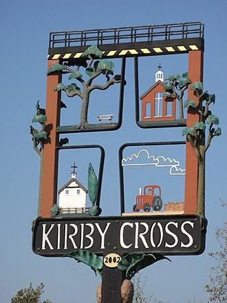 Kirby Cross - Image: Kirby Cross village sign