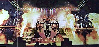 Ace Frehley - Love Gun Tour stage setup