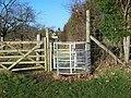Kissing Gate on Footpath - geograph.org.uk - 1077818.jpg
