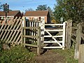 Kissing gate at the Lord Nelson railway crossing - geograph.org.uk - 1096937.jpg