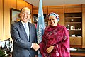 Kitack Lim with Amina J. Mohammed in London - 2018 (41824822362).jpg