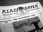 Ungdomsforbundets avis Klassekampen fulgte NKP i 1923.