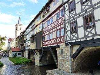 Krämerbrücke - North face of the Krämerbrücke