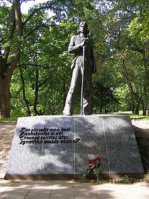 Kristjan Jaak Peterson - Statue of Kristjan Jaak Peterson on Toome Hill, Tartu