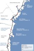 De norrländska kungsgårdar som räknas upp i Hälsingelagen var anlagda med regelbundna mellanrum på eller invid gamla centralorter längs den förhistoriska kustlandsvägen Norrstigen.