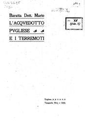 Mario Baratta: L'acqvedotto pvgliese e i terremoti
