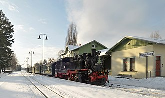 Moritzburg, Saxony - Image: Lößnitzgrundbahn 991777 4