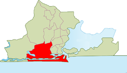 Location within Lagos Metropolitan Area