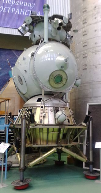 LK (spacecraft) - A lander at the main RKK Energia headquarters.