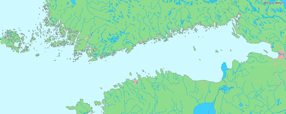 Mapa lokalizacyjna Zatoki Fińskiej