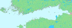 Фински залив - Мапа Финског залива