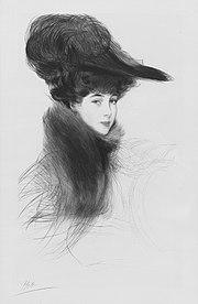 La Duchesse de Marlborough, Consuelo Vanderbilt, by Helleu, 1901