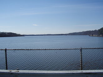 Old Tappan, New Jersey - The Lake Tappan reservoir straddles the Bergen County municipalities of Old Tappan and River Vale, as well as a smaller portion within adjacent Rockland County, New York.