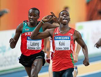 Boaz Kiplagat Lalang - Lalang taking World Indoor silver behind Abubaker Kaki