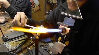 Lampworking Type of glasswork where a torch or lamp is primarily used to melt the glass