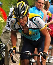 Armstrong Riding For Astana On Stage  Of The  Tour De France