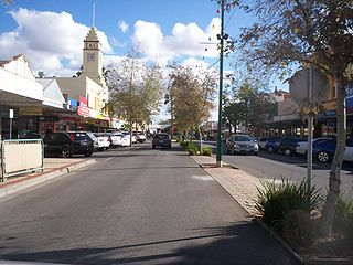 Mildura City in Victoria, Australia