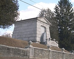 The historic Laurel Glen Mausoleum in Shrewsbury