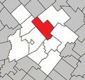 Laurierville Quebec location diagram.png