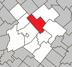Laurierville, Quebec - Image: Laurierville Quebec location diagram