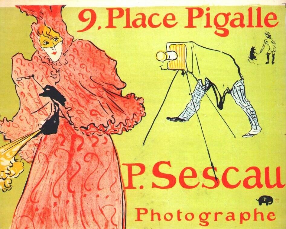 Lautrec the photographer sescau (poster) 1894