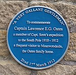 Lawrence Oates blue plaque Meanwood.jpg