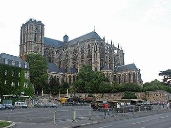 La catedral de Saint-Julien de la ciudad de Le Mans