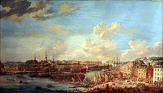 Flotte du Ponant - The Brest Arsenal in 1776  By Louis-Nicolas Van Blarenberghe  (1716 - 1794)