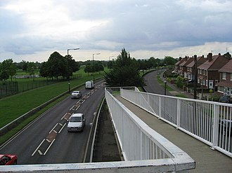 A18 road (England) - Leger Way in Doncaster next to Doncaster Racecourse
