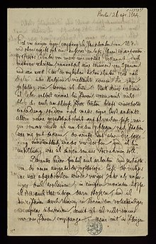 During the research for his 'History of the German Language' Grimm corresponded with numerous colleagues. Ghent University Library holds several letters between Jacob Grimm and Jan Frans Willems. (Source: Wikimedia)