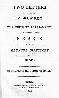 <i>Letters on a Regicide Peace</i>