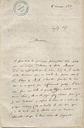 Lettre de Charles Baudelaire à l'impératrice Eugénie 1 - Archives Nationales - AE-II-1980.JPG