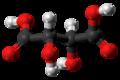 Levo-Tartaric acid molecule ball from xtal.png