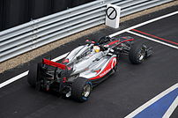Lewis Hamilton at pit-lane 2011 British GP.jpg