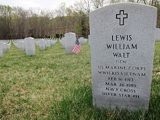 Lewis William Walt - Headstone in Quantico National Cemetery