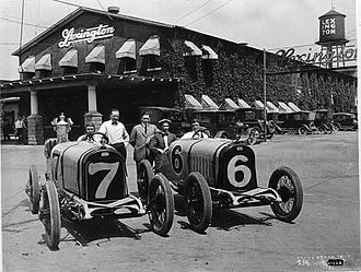 Lexington (automobile) - Two racing cars at the Lexington Motor Company facility in Connersville, Indiana, 1920