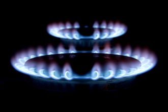 Fuel gas - Blue flame of a fuel gas burners