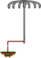 Lightning rod from U.S. Patent 1,266,175.png